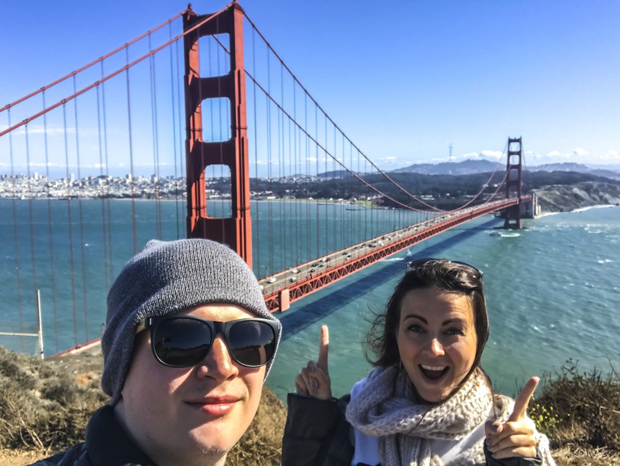 Мост Золотые Ворота и батарея Спенсер